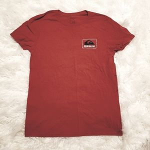 Men's Quiksilver Red Tshirt
